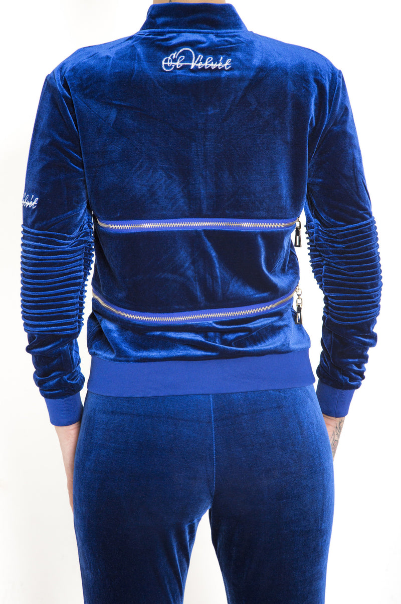 Women's Royal Blue Vélvét - Full Tracksuit