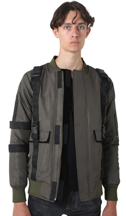 Olive Bomber Jacket - Reversible