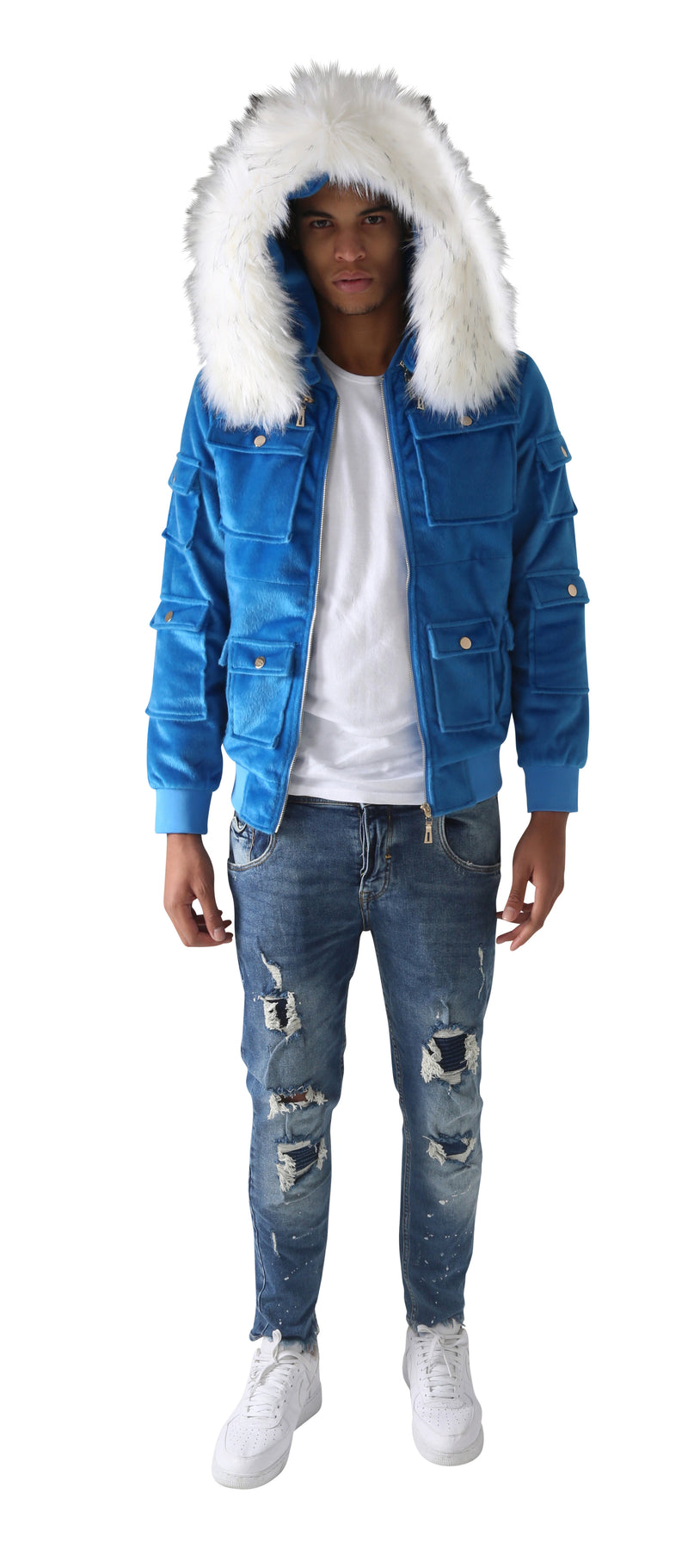 Blue Sealfur Jacket