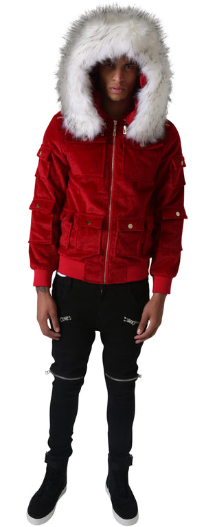 Red Sealfur Jacket
