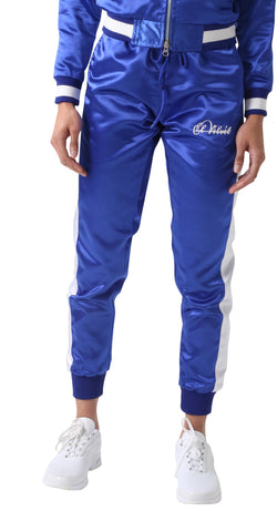 Blue Satin Tracksuit