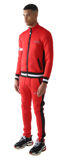 Red DIFFERENT Striped Tracksuit