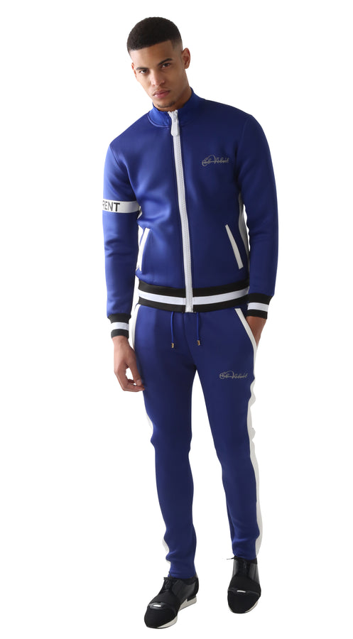 Blue DIFFERENT Striped Tracksuit