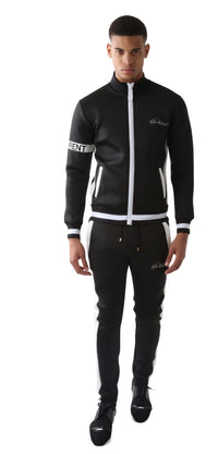 Black DIFFERENT Striped Tracksuit