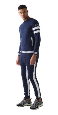 Navy Doubled Vinyl Tacksuit