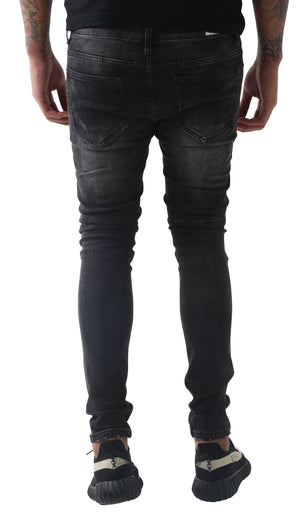 Dark Wiesel distressed jeans