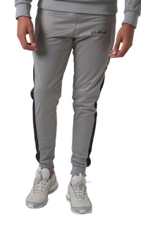 Black Panelled Grey Trechic Tracksuit