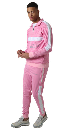 Pink & white Trechic Tracksuit
