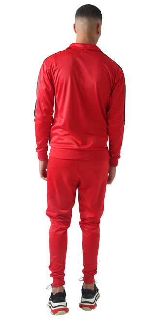 Red & Black Trechic Tracksuit