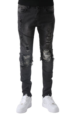 Wrenched Camo Grey Voly Jeans