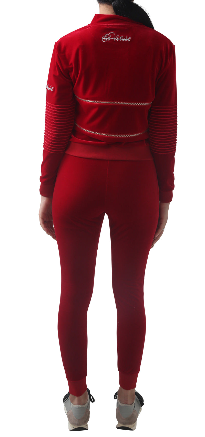Women's Red Vélvét Full Tracksuit