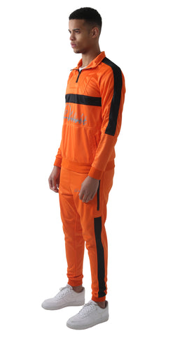 Orange & Black Trechic Tracksuit
