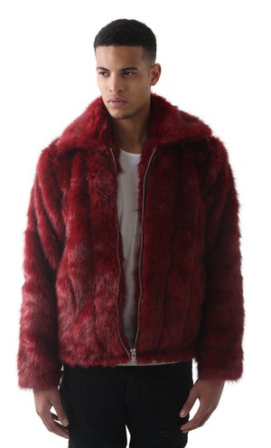 Fora 09 Burgundy Full Faux Jacket