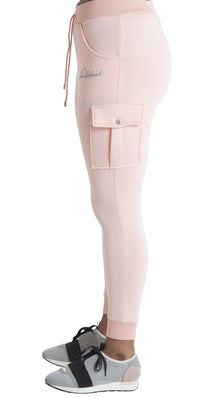 Women Candy Pink Space Cotton with White Stripe Full Tracksuit