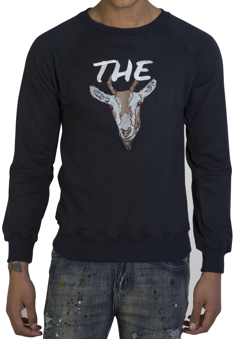 Navy Blue 'The GOAT' sweatshirt - Greatest Of all Time