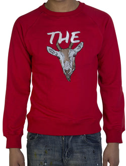 Red 'The GOAT' sweatshirt - Greatest Of all Time