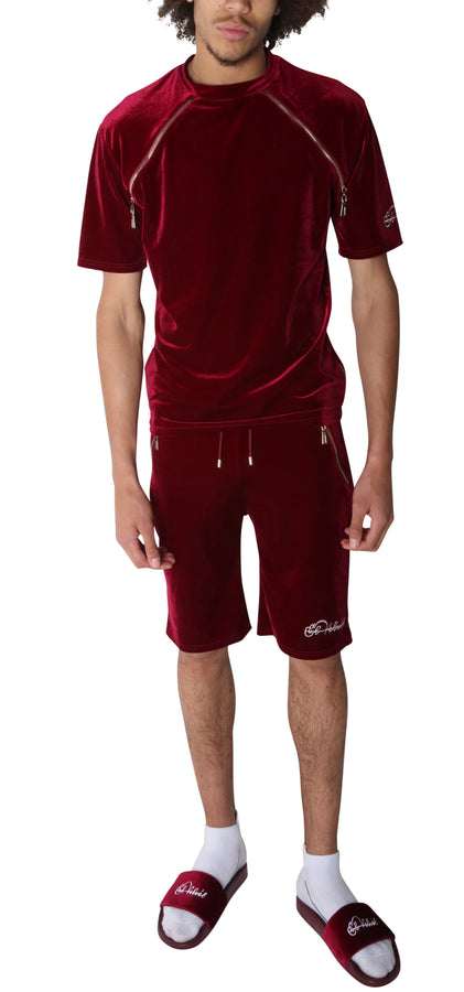 PRE-ORDER Burgundy Velvet Summer Full Set
