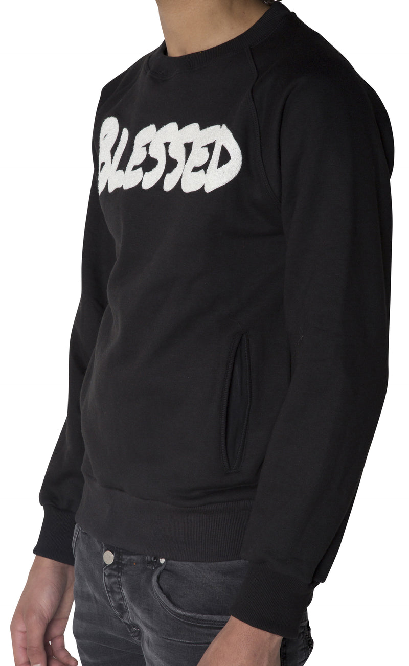 "Black ""BLESSED"" Sweatshirt"