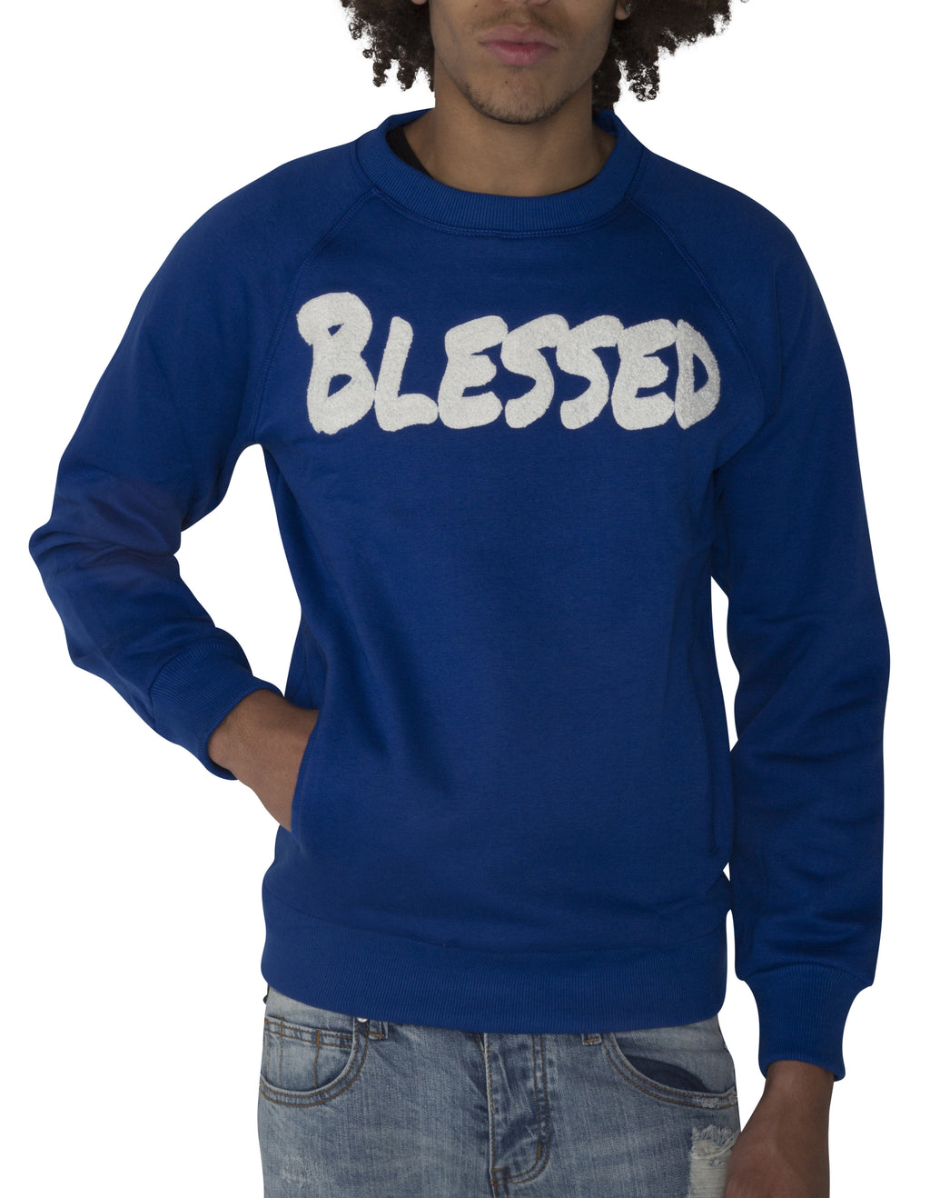 "Blue ""BLESSED"" Sweatshirt"