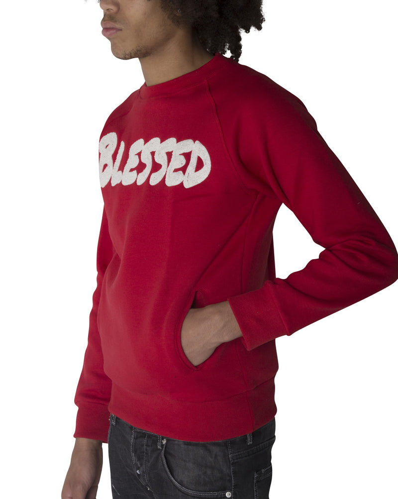 "Red ""BLESSED"" Sweatshirt"