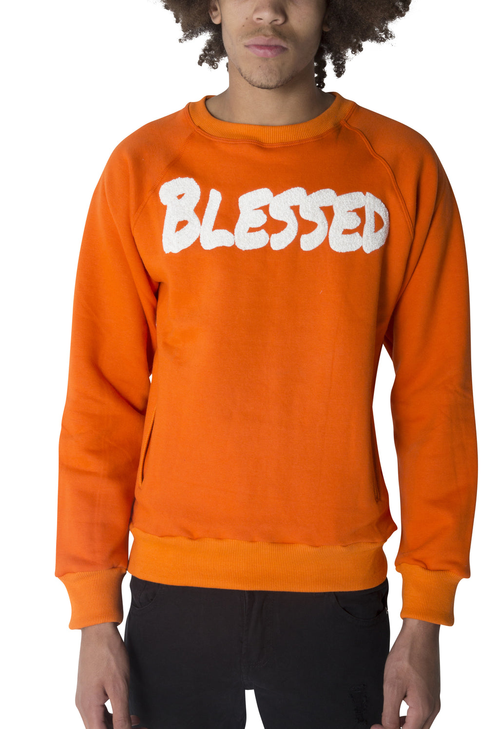 "Orange ""BLESSED"" Sweatshirt"
