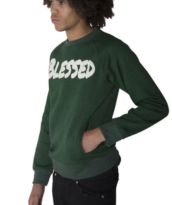"Green ""BLESSED"" Sweatshirt"