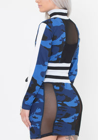 Women Blue Camo 2SET - Reversible
