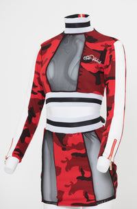 Women Red Camo 2SET - Reversible