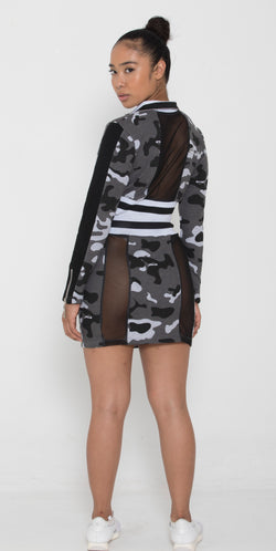 Women Grey Camo 2SET - Reversible