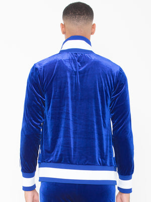 Collar Sweat Top Lined LON Royal Blue