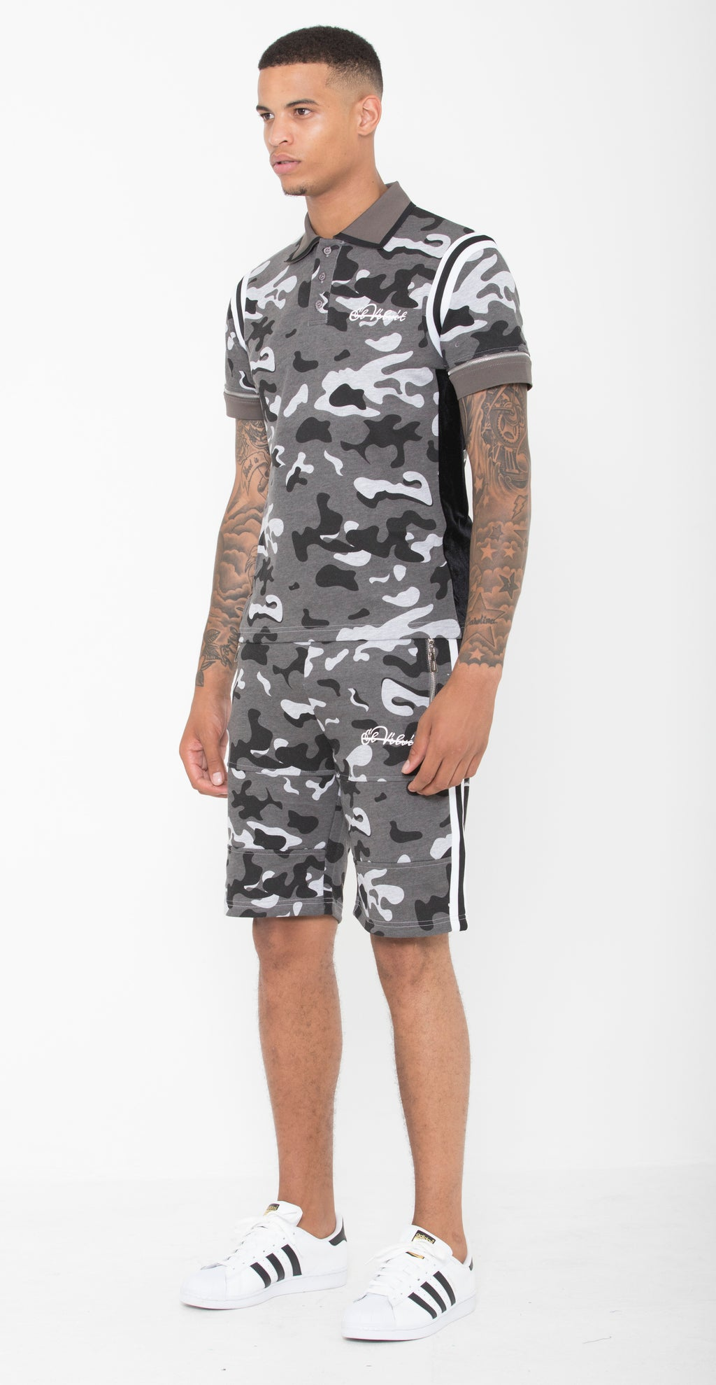Black & Grey Striped Camo Summer Full Set