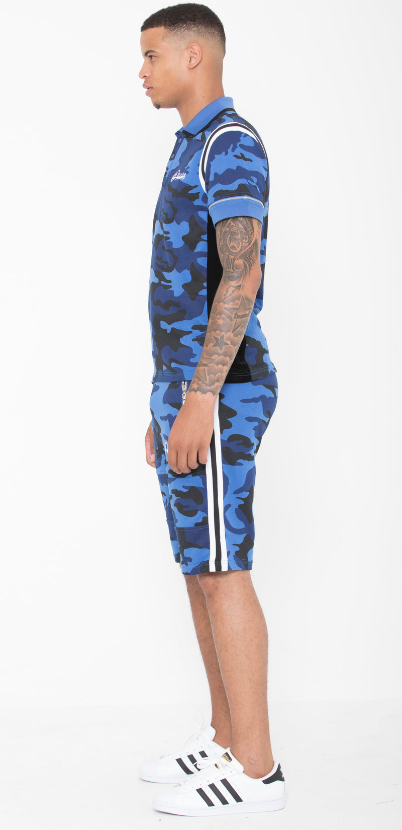 Blue & Black Striped Camo Summer Full Set