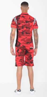 Red & Black Striped Camo Summer Full Set