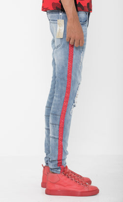 Red Striped Blue RZ Jeans
