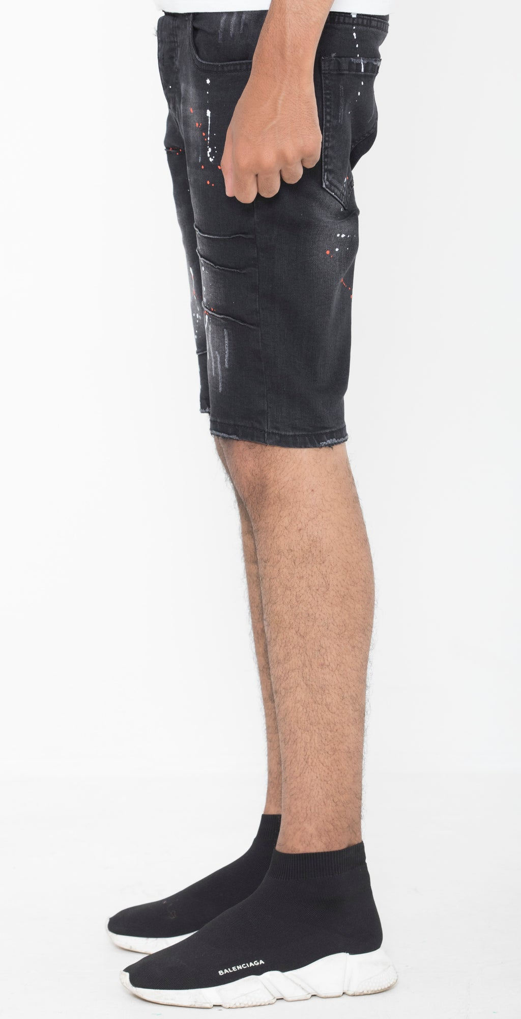 Dark Picasso Splatter Shorts