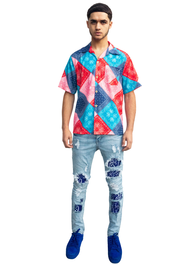 Split Colours Bandana Shirt