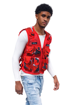 M/RED BULLETPROOF VEST