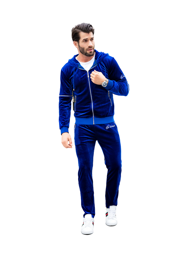 PRE-ORDER Men's Royal Blue Vélvét - Full Tracksuit