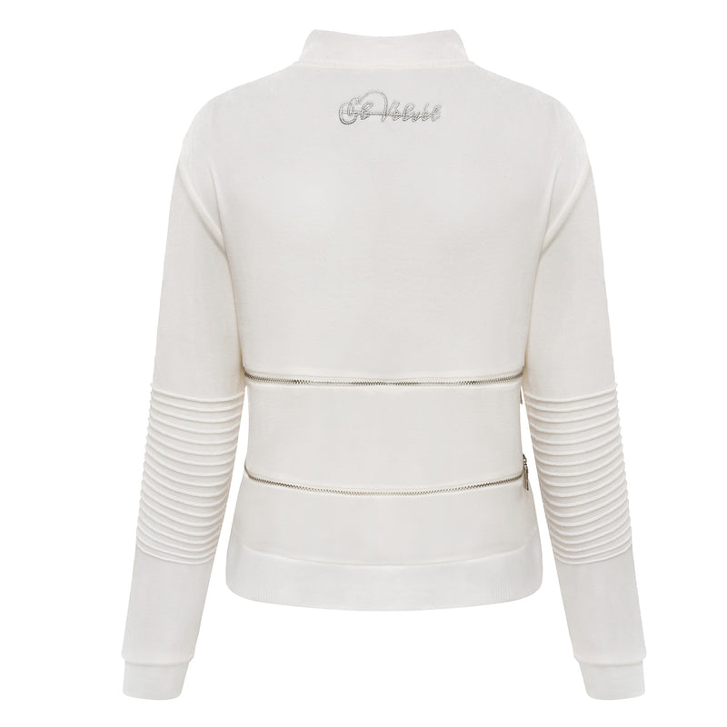 Limited edition Women White Vélvét Tracksuit - Full tracksuit