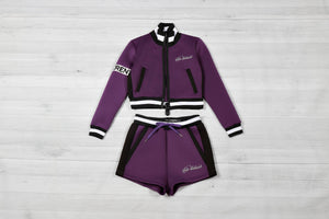 Women SP Purple Neoprene Summer Full Set