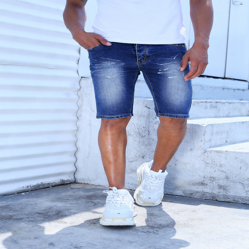Deep Blue ZX Jeans Shorts