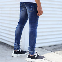 Blue Shark Cut Jeans