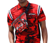 Red Strapped Camo Sidebag