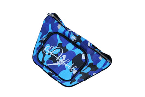 Blue Strapped Camo Sidebag
