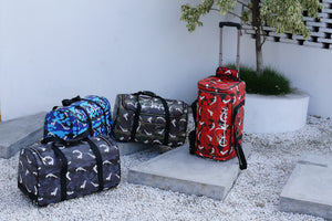 Red Strapped Camo Duffle Travel