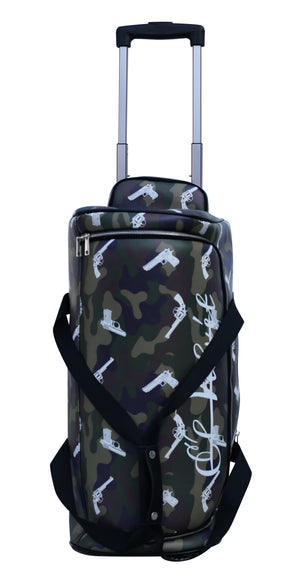 Army Green Strapped Camo Duffle Travel