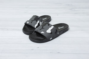 Black & Grey Camo Slides - Men & Women (slight defect)