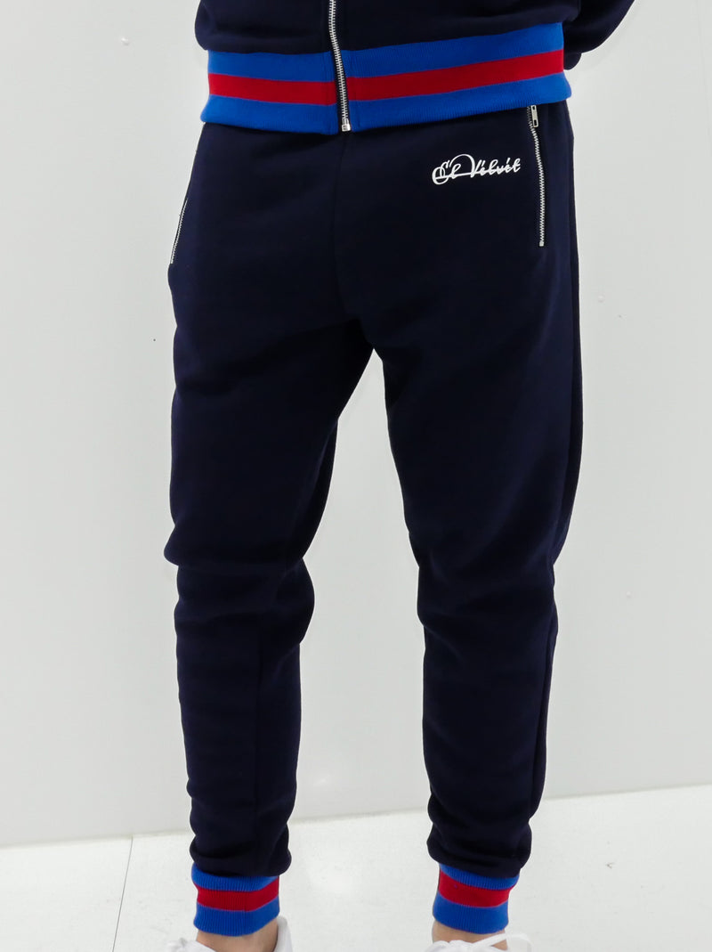 Ribbed Navy D-lux Sweat Joggers