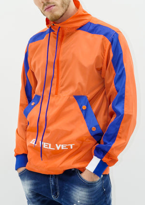 Orange Blue  Panelled Balance RainCoat
