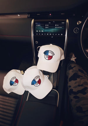 White Blue & Red Lux Cap